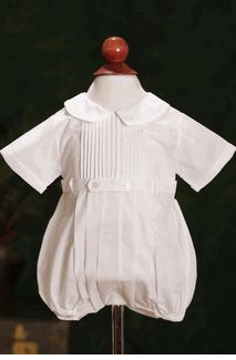 Feltman Brothers Belted Christening Romper