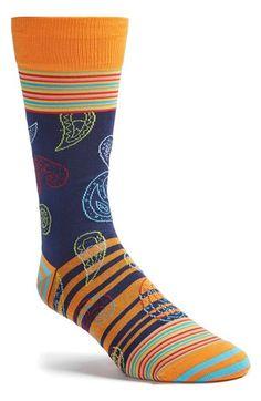 Bugatchi Paisley & Stripe Socks