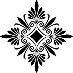 Modern bir stencil deseni...  Wood painting, Hand made, Decoupage, Ahşap boyama, El yapımı, Dekopaj, stencil, stensil, şablon