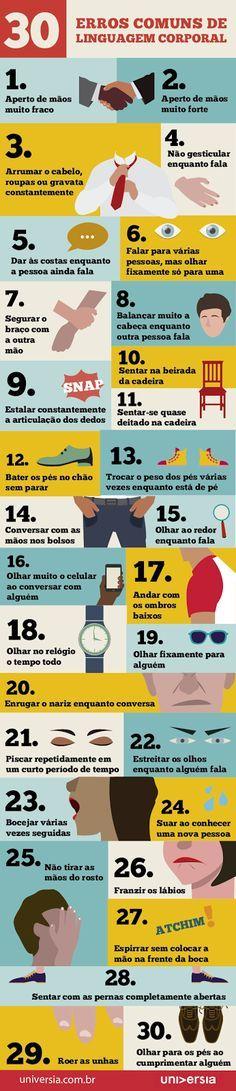 Carlos Aurélio Pereira.: Os 30 erros comuns de linguagem corporal