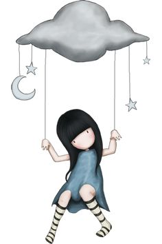 Little girl & Cloud, by Suzanne Woolcott