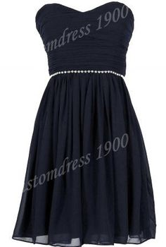 Cheap Short  Chiffon Pleat Sweetheart Chiffon prom dresses,evening dresses bridesmaid dress
