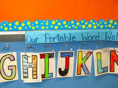 A portable word wall!  Students can grab the word that they need and take it back to their desks.  This also makes it easier to add new words to the wall without running out of space.