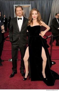 Photoshopped Angelina looks a little awkward at the Oscars.