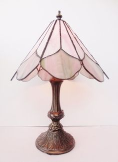 Vintage Tiffany Style Lamps | Vintage Tiffany STYLE Stained Glass Lamp Light by SimplySalvage ON ...