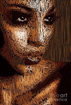 Studio Portrait In Pencil 63 Digital Art by Rafael Salazar