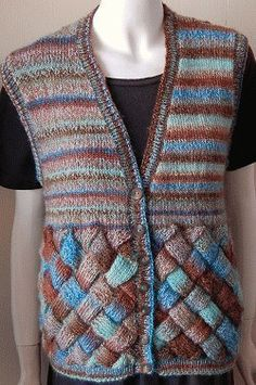Sweet and Sassy Entrelac Vest | AllFreeKnitting.com