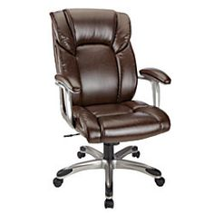 Realspace Salsbury High Back Chair Dark BrownBlack By Office Depot OfficeMax