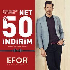 33d292fce98f6 Babalar Günü'ne özel Polo T-shirtlerde net %50 indirim Marmara Park Efor'da!
