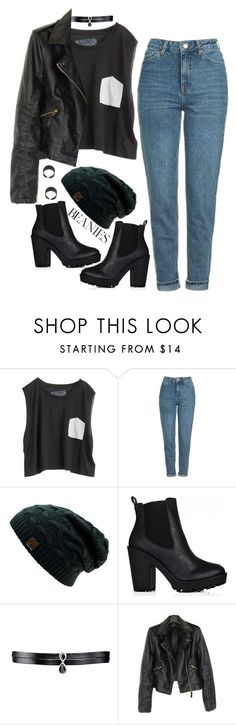 """""""Untitled #1188"""" by adc421 on Polyvore featuring Blondes Make Better T-Shirts, Topshop, Fallon and beanies"""