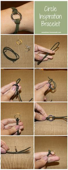 Step-by-step instructions with pictures for making a circle inspiration bracelet. This is a great handmade gift idea!