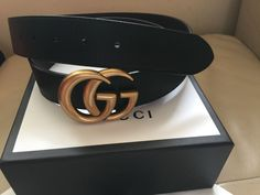 c4b868258493 Authentic New Gucci Double GG Reversible leather Belt Size 90cm 30-32 Waist   fashion