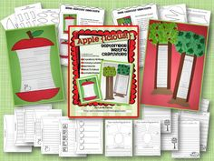 Publish your students' back to school writing with these apple themed craftivities!  2 crafts and 15 templates for writing and publishing narratives, friendly letters, acrostic poems, and how to writing. Around the Kampfire