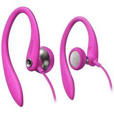 Philips Headphones Gym Sport Mp3 Pink Ear Hook Cycling Jogging Running Earphones