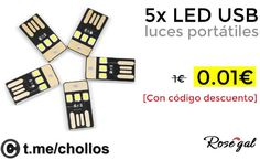 5 Mini Luces LED USB disponibles por 001 - http://ift.tt/2xms0ps