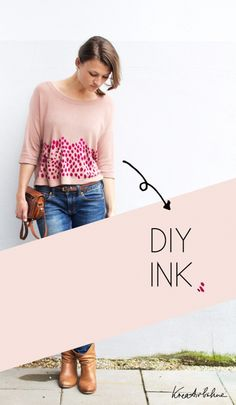 Upcycling: Ink it! by Anastasia #upcycle #refashion #dyeing #tees