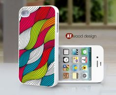 case for iphone 4s iphone 4 case iphone 4s case iphone 4 cover classic  illustration colorized curve  design. $13.99, via Etsy.