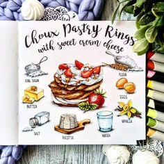 Copic Marker Art, Sketch Markers, Cute Food Drawings, Realistic Drawings, Sketch Instagram, Recipe Drawing, Travel Sketchbook, Food Sketch, Watercolor Food