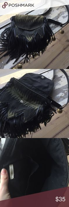 Ecotè fringe purse Great condition, bought at urban outfitters. The strap is adjustable. Urban Outfitters Bags Crossbody Bags