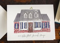 First Home Customized Illustration Oh So Beautiful Paper: Quick Pick: Lucky Luxe Illustrated Home Stationery