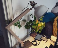 Wood Industrial Lamp Desk build with IKEA RANARP Wall/clamp spotlight.For this item you need :IKEA RANARP Wall/clamp spotlight (ranarp wall/clamp)Wood cleat (13x25X200 mm)screwgray mortar /cementplastic boxEpoxy Gluepolish/varnish