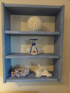 Nantucket Shelf with Annie Sloan Chalk Paint by FindingSilverPennies, $30.00