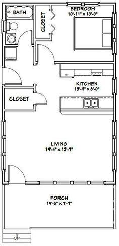 20x32 Tiny House -- #20X32H4D -- 640 sq ft - Excellent Floor Plans