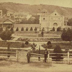 The Plaza, Los Angeles, circa 1880 by Carleton Watkins