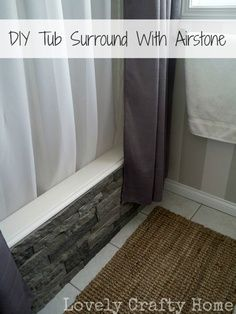 Cool DIY project to hide ugly built-in tubs (builder's tubs) using Airstone (really lightweight rock material). Great tutorial. | best stuff