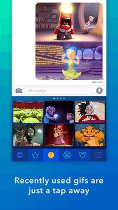لوحة مفاتيح الصور المتحركة Disney على ايفون