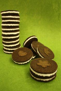 Felt Oreo Cookies - Set of 3. $5.00, via Etsy.