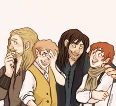 Fili & Kili meet Merry & Pippin.... AKA TOO MANY. FEELS.