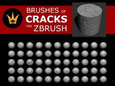 ArtStation - CRACKS brushes for ZBrush, gerardo Castellanos
