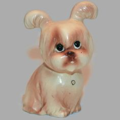 Vintage Beige and Brown Cute Dog ~ Dog Figurine ~ Premium Quality Import ~ Porcelain Figurine ~ Dog Collectible ~ Animal Home Decor by ArtsyVintageBoutique on Etsy https://www.etsy.com/listing/207468837/vintage-beige-and-brown-cute-dog-dog