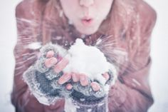 photography theme: winter wonderland - playing with snow