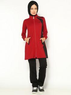 174dc306376d2 Modest Tracksuit Set - Maroon - Ranuna Sports Hijab, Hashtag Hijab,  Tracksuit Set,