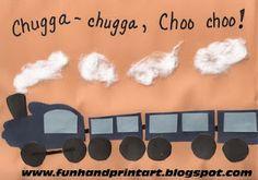 Handprint train craft- add Bible verse