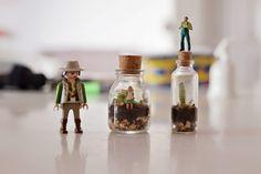 Estéfi Machado: Mini-terrarium * O mundo num vidrinho Mini Terrarium, Small Bottles, Decoration, Projects To Try, Arts And Crafts, Miniatures, Create, Plants, Diy
