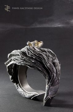 Pawel Kaczynski / Bracelet - silver , stainless steel and citrin ( t.munsteiner)
