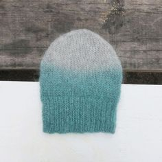 Aura Que - Mohair Ombre Knitted Woollies - Mint, Grey or Teal Crochet Gifts, Knit Crochet, Ombre Effect, Ombre Color, Hat Making, Fingerless Gloves, Knits, Hand Knitting, Knitted Hats