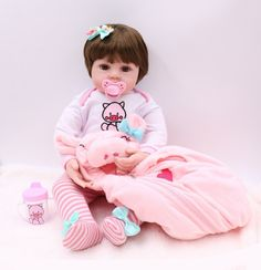 Baby Dolls For Toddlers, Reborn Toddler Dolls, Reborn Baby Girl, Reborn Babies, Toys For Girls, Baby Doll Toys, Newborn Baby Dolls, Bath Doll, Reborn Dolls Silicone