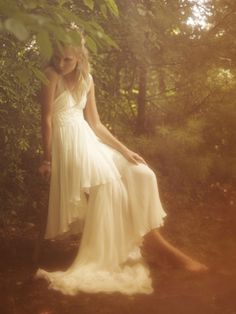 """'That's a Lost Girl,' the Lady whispered, staring at the ethereal figure in the distance, gliding gracefully through the shrouded trees, her white gown flowing behind her. Wedding Dress Styles, Wedding Gowns, Wedding Themes, Boho Wedding, Dream Wedding, Wedding Ideas, Elegant Bride, Ethereal, Fairy Tales"