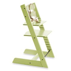 STOKKE® Tripp Trapp® Green Highchair and Accessories - buybuy BABY - $249; baby set an additional $69.99. It is $299 in Canada (Dear-born)