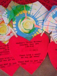 Spin-Art Invitation