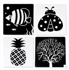 baby early learning cards black and white card flash cards Newborn ...