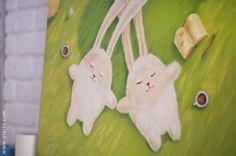 bunnies in love illustration. Illustration by Olga Yatsenko. www.olarty.com