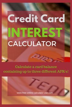 interest calculator credit card apr