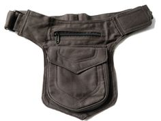 unisex Canvas Utility Belt - brown - 4 pockets, travel, burning man, festivals, hands-free style