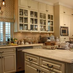 Cream Colored Kitchen Cabinets Design Ideas, Pictures, Remodel, and Decor