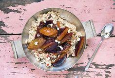 vegan, pflanzenbasiert, gesund, Nährwerte, Rezept, kochen, homemade, ganzheitlich, Zwetschgen, Graupen, Frühstück